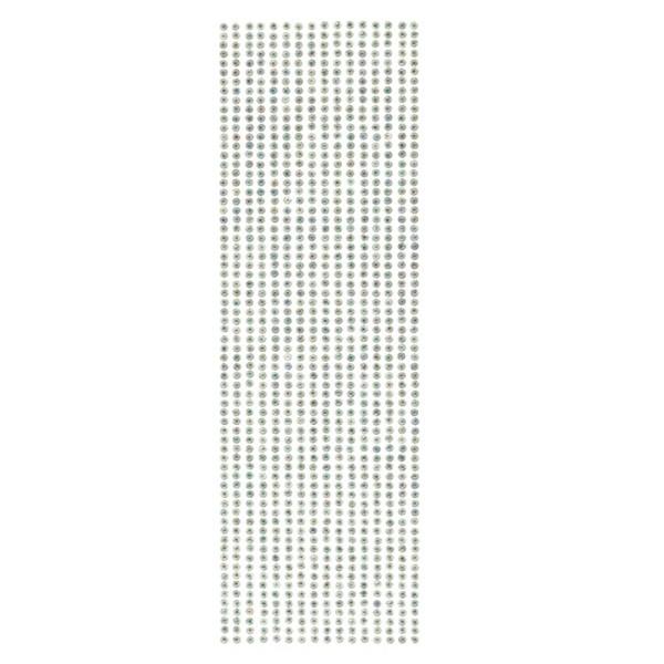 Schmuckstein-Bordüren, selbstklebend, facettiert, irisierend, Ø4mm, 29cm, 16 Stück, türkis
