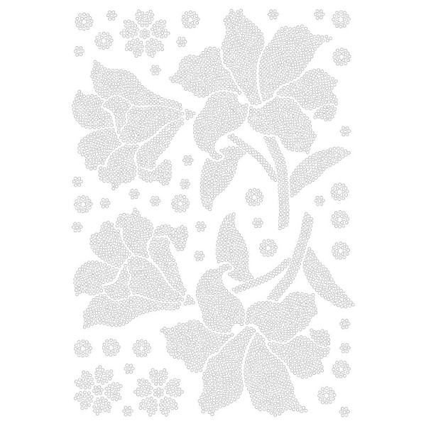 Bügelstrass-Design, DIN A4, klar, Amaryllis