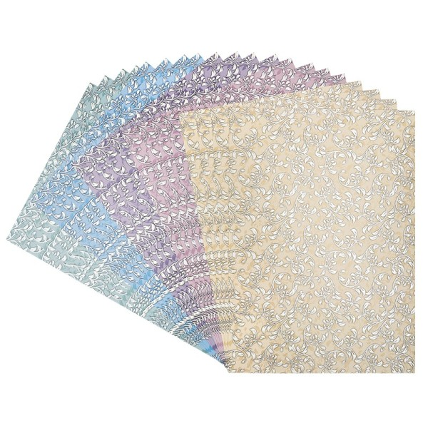Deko-Karton, Pearl, Blätter & Ranken, DIN A4, 20 Bogen