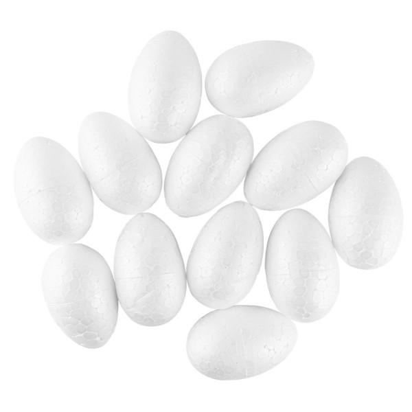 Styropor-Eier, 6cm, 12 Stück