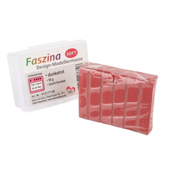 Faszina Soft, Design-Modelliermasse, dunkelrot, 55g, leicht formbar, ofenhärtend