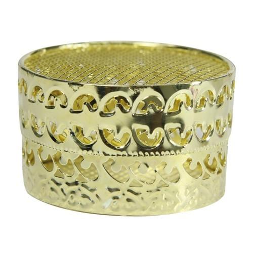 Confisserie-Dose, Metall, Ø6,3 cm, 3,7 cm hoch, gold