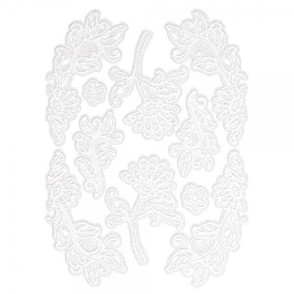 Velours-Stickerbogen, 15cm x 11cm, Ornamentik, Design 8