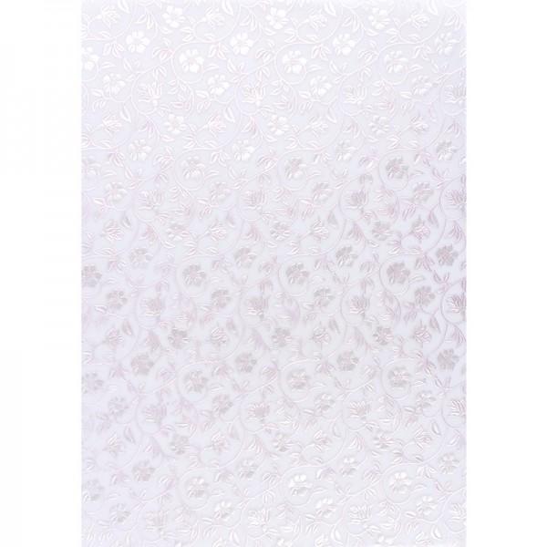 Transparentpapiere, Nova Noblesse 9, mit Top-Prägung & Perlmuttlack, DIN A4, 5 Bogen, rosé