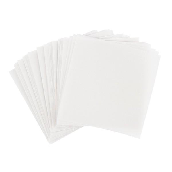 Faltpapiere, transparent, 15cm x 15cm, 110 g/m², weiß, 100 Stück