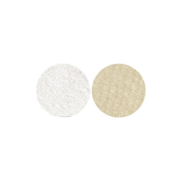 Stoffkreise für Knöpfe mit 19 mm Ø, silber/gold, 50er Set