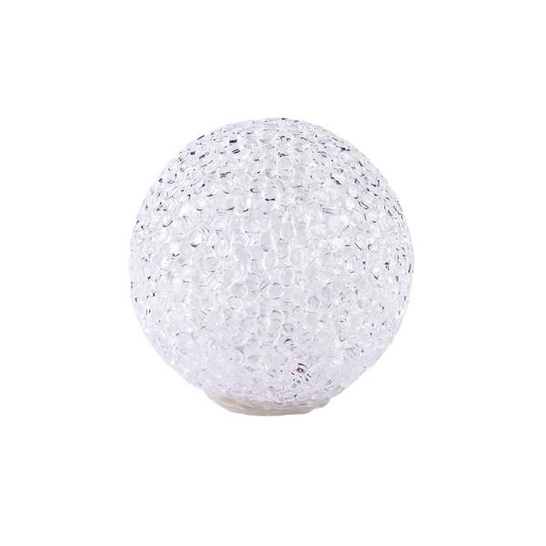 LED-Schneeball mit Timer, warmweiß, Ø 8cm