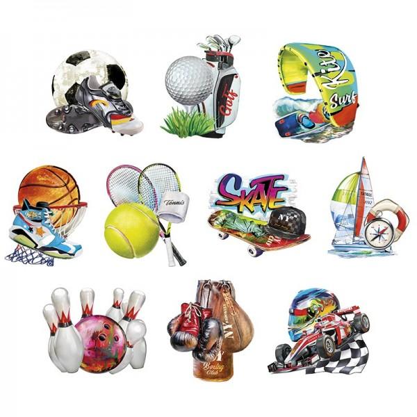 3-D Motive, Sport & Hobby 1, 8-10,5cm, 10 Motive
