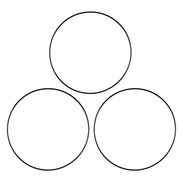 Metallringe, 3mm stark, Ø 20cm, schwarz, 3 Stück