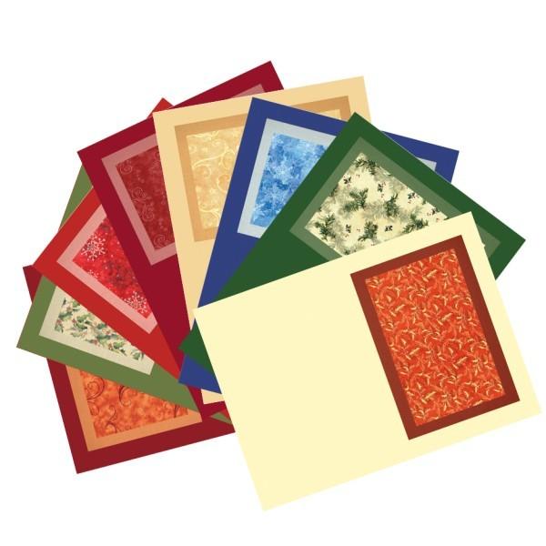 Motiv-Grußkarten, Weihnachten, B6, 8er Set
