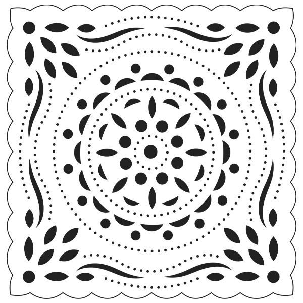 Präge-/Prickelschablone, 12,2 x 12,2 cm, Design 5