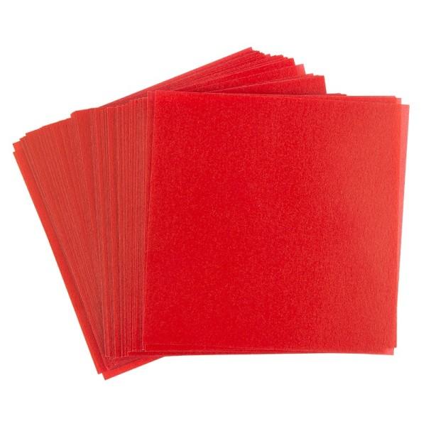 Faltpapiere, transparent, 20cm x 20cm, 110 g/m², rot, 100 Stück