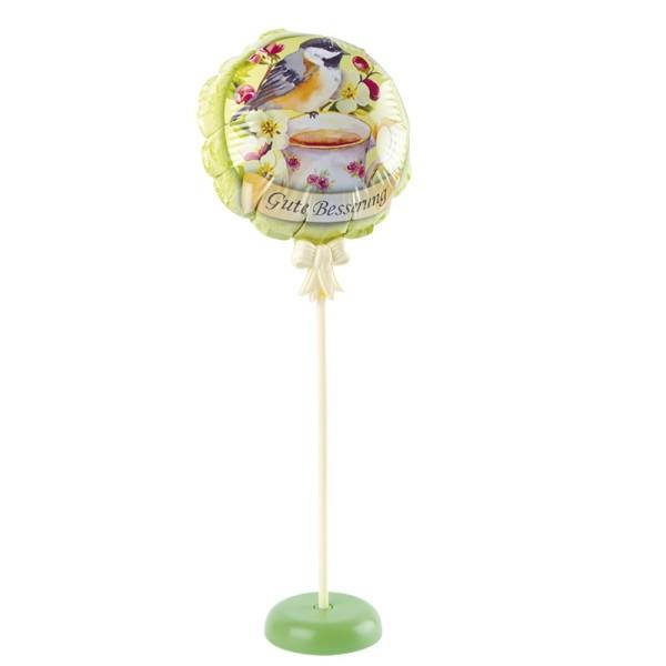 Zauber-Ballon mit Stab & Podest, Ø 11,5 cm, 31,5 cm hoch, Gute Besserung