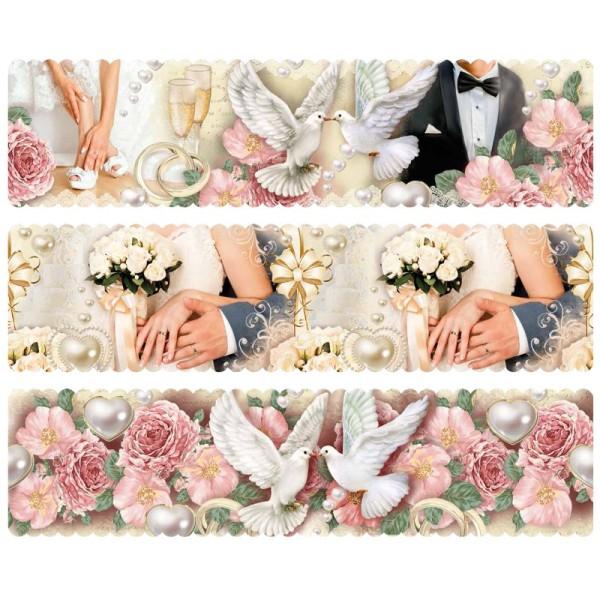 """Zauberfolien """"Hochzeit"""", Schrumpffolien für Ø10cm, 8,5 cm hoch, 6 Stück"""