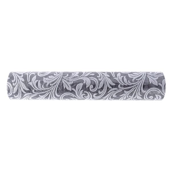 Relief-Vlies Deluxe, Ornamente, 30cm breit, 5m lang, auf Rolle, silbergrau
