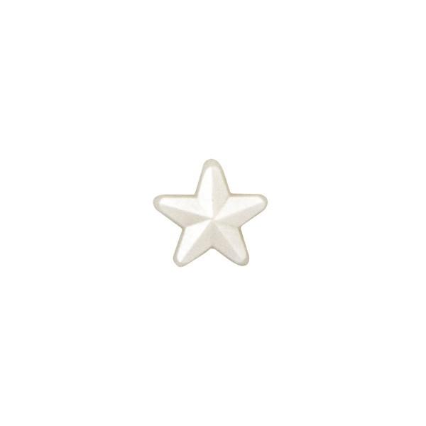 Schmucksteine, Sterne, perlmutt, Ø 6 mm, 100 Stück