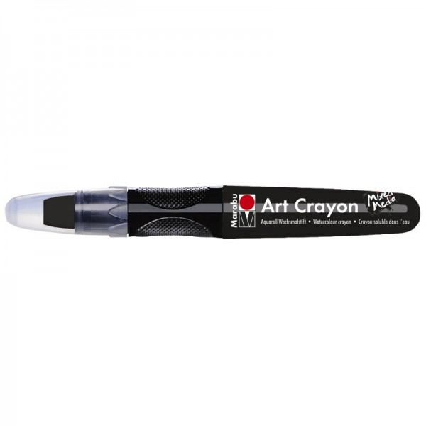 Marabu Art Crayon/Aquarell-Wachsmalstift, wasserlöslich, schwarz