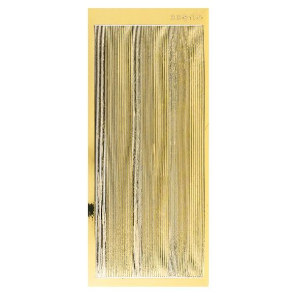 Sticker, schmale Linien, 3 Breiten, Spiegelfolie gold
