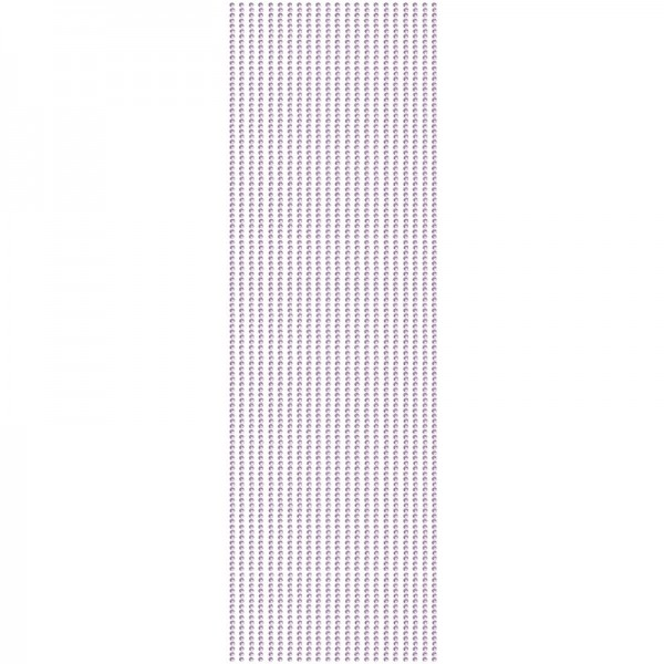 Glitzerstein-Bordüren, selbstklebend, Ø2mm, 29cm, 22 Stk., violett