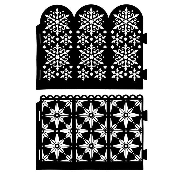 Stanzschablonen, Ornament-Windlichter, 2 Stück