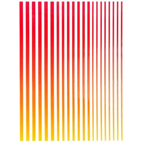"""3-D Sticker-Bordüren """"Farbverlauf"""", 28,5cm, verschiedene Breiten, rot/gelb"""