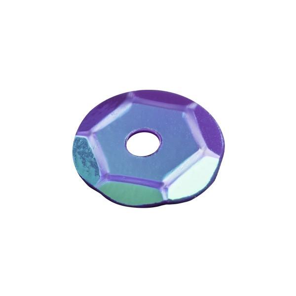 Pailletten, irisierend, 15 g, Ø6 mm, blauviolett