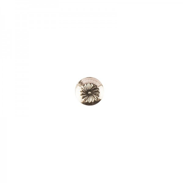 Hot-Fix Metallic-Relief-Nieten 1 zum Aufbügeln, Ø 6mm, gold, 100 Stück