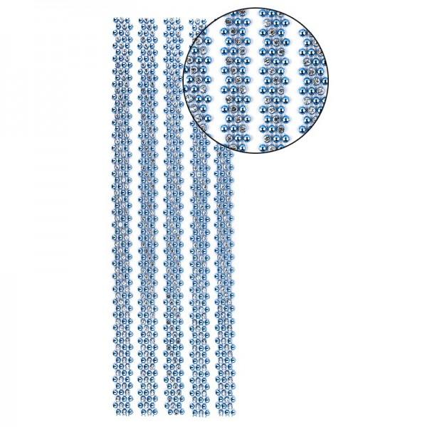 """Premium-Schmuck-Bordüren """"Royal"""", selbstklebend, 29cm mit Glas-Kristallen, blau"""