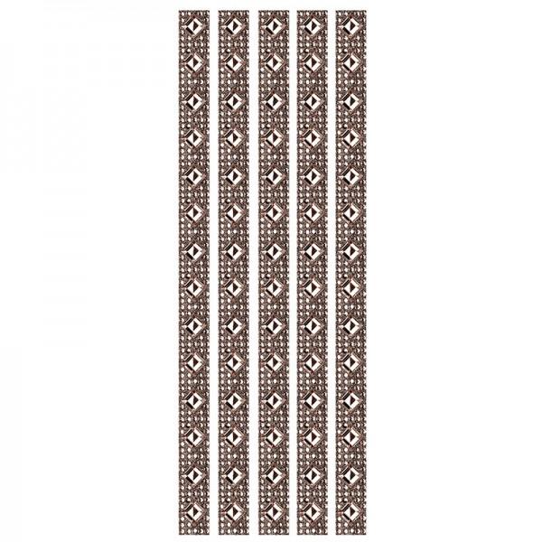 Royal-Schmuck, 5 selbstklebende Bordüren, 29 cm, dunkelbraun