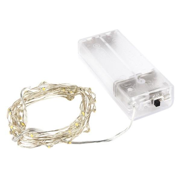 LED-Draht-Lichterkette, micro, wasserfest, warmweiß, 40er