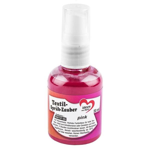 Textil-Sprüh-Zauber/Textil-Sprühfarbe, 50 ml, pink