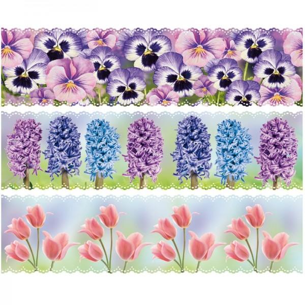 """Zauberfolien """"Frühjahrs-Blüten"""", Schrumpffolien für Ø10cm, 9 cm hoch, 6 Stück"""