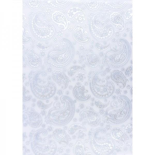 Transparentpapiere, Nova Noblesse 4, mit Top-Prägung & Perlmuttlack, DIN A4, 5 Bogen, taubenblau