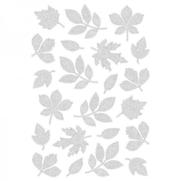 Bügelstrass-Design, DIN A4, klar, Blätter 2