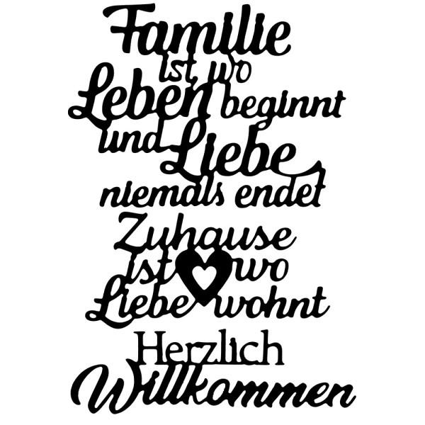Stanzschablonen, Schriften, Familie & Zuhause, 3 Stück