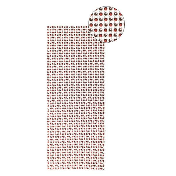 Schmuck-Netz, selbstklebend, 12 x 30 cm, Bi-Color, rot/silber
