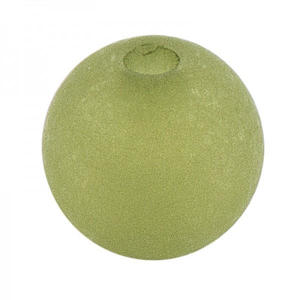 Perlen, gefrostet, Ø 6mm, 150 Stück, dunkelgrün