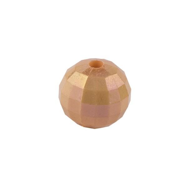 Perlen, facettiert, Ø 6mm, apricot-irisierend, 150 Stk.