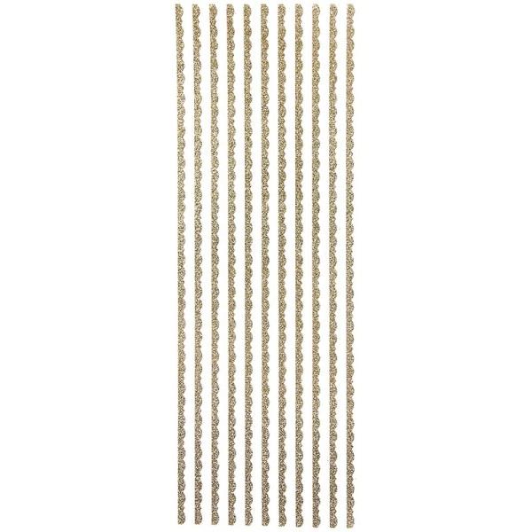 """Glitzer-Bordüren """"Lilia"""", Sticker-Linien, 30cm lang, 4mm breit, gold"""