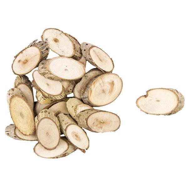 Wald-Deko, Holzscheiben, 1,5-3,5cm, 30g