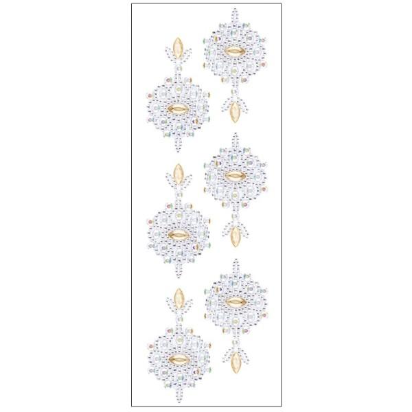 Kristallkunst, Ornament 2, selbstklebend, 10cm x 30cm, klar irisierend, apricot