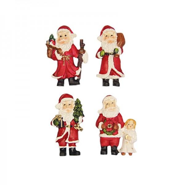 Relief Weihnachtsmänner, 4er Set