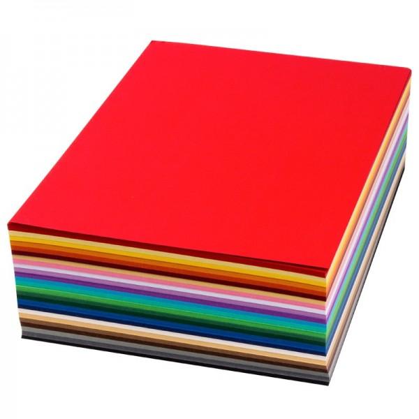 Tonpapier/Stanz-Papier, DIN A4, 130g/m², 500 Blatt