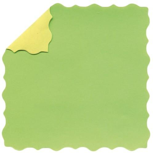 DuoColor Stanz-Faltpapiere, 8 x 8 cm, grün, Büttenrand, 100 Blatt