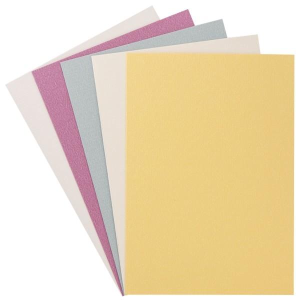 """10er Grußkarten-Set, """"Kashmir Leinen"""", B6, 5 Farben"""