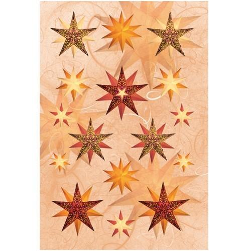 3-D Stickerbogen, Sterne 1, 12,5 x 18,5 cm