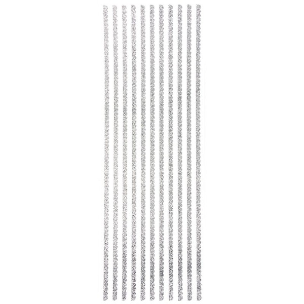 """Glitzer-Bordüren """"Anna"""", Sticker-Linien, 30cm lang, 4mm breit, silber"""