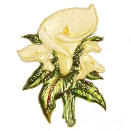 Wachsornament Calla, 8,5 x 6 cm