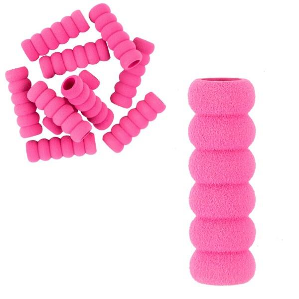Anti-Rutsch-Hülsen, soft, 3,8cm lang, außen: Ø 1,3cm, innen: Ø 0,7cm, pink, 10 Stück