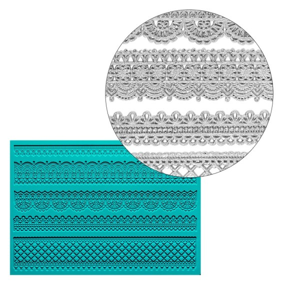 Silikon-Dekormatte, Design 42, 21cm x 15cm x 0,2cm